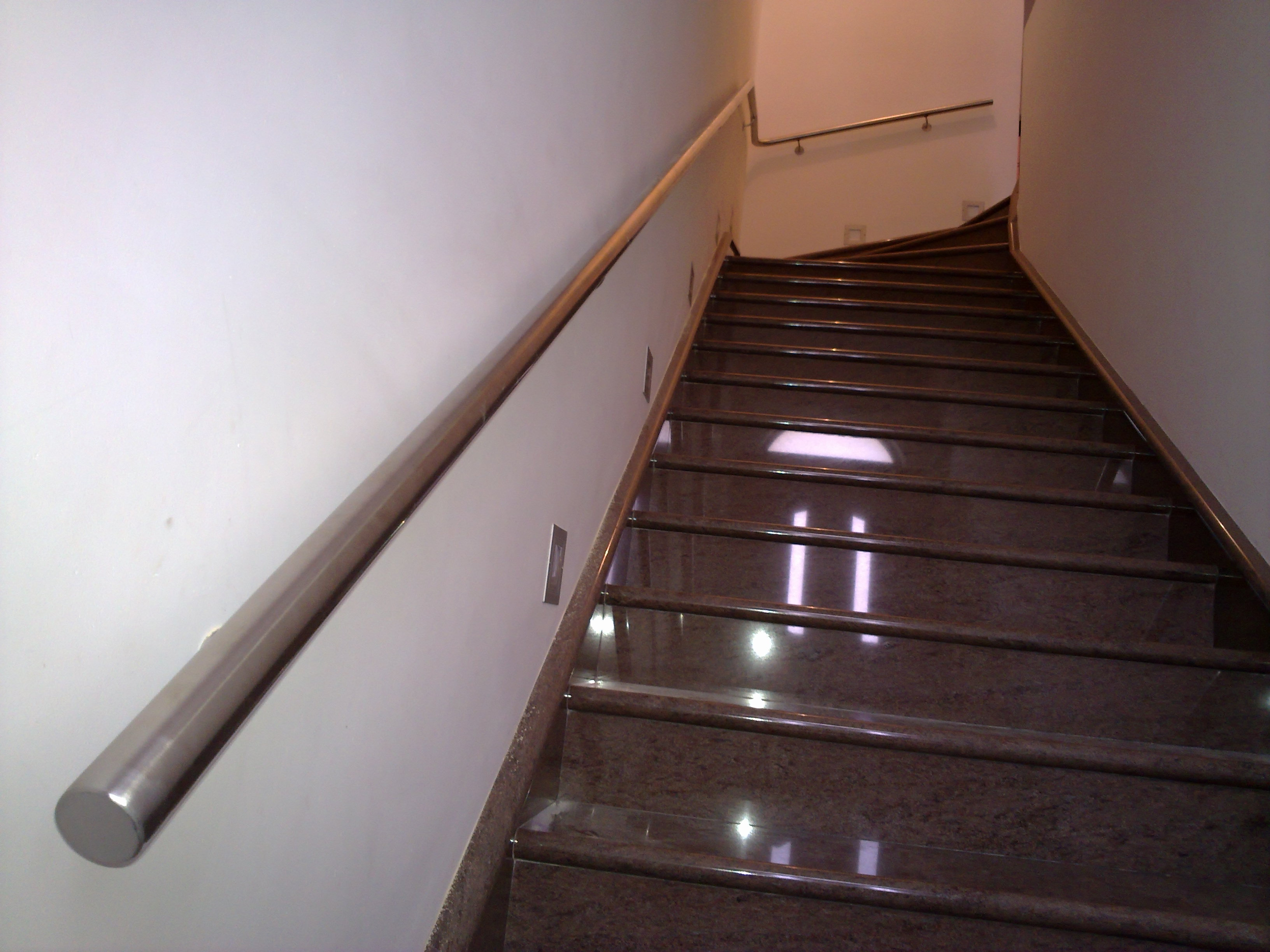 Spiral stainless steel handrail and