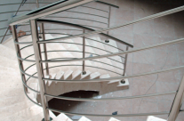 Spiral Stainless Steel Indoor Staircase