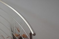 Spiral Stainless Steel Indoor Handrail